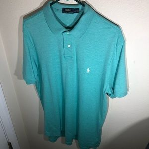Polo by Ralph Lauren, Mens Size Large, Green Polo Stye Shirt, Classic Fit